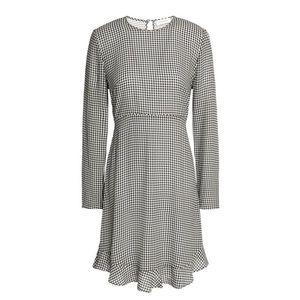 Zimmermann - Fluted Gingham Crepe Mini Dress